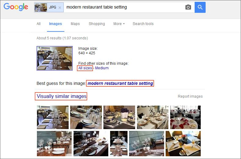 finding visually similar images