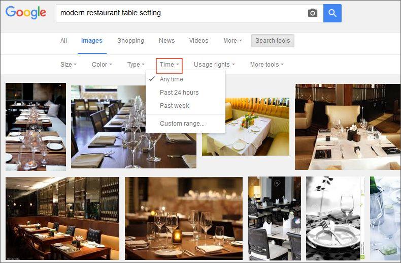 google images time range