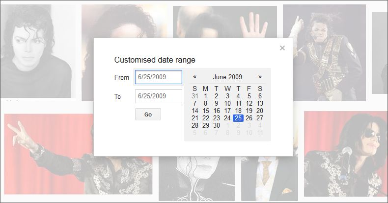 images published on specific dates