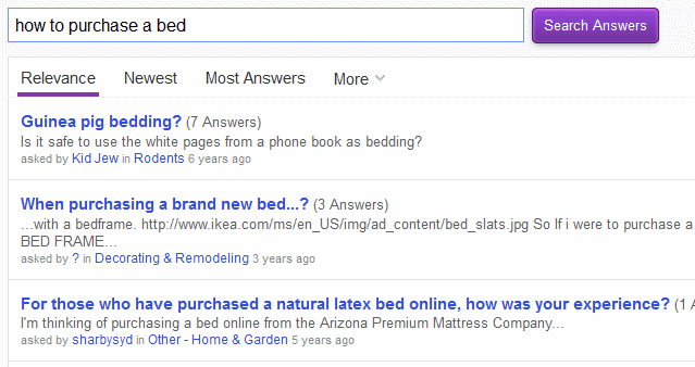 yahoo answers suggestions