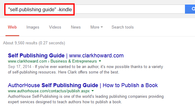 how to exclude words in google search