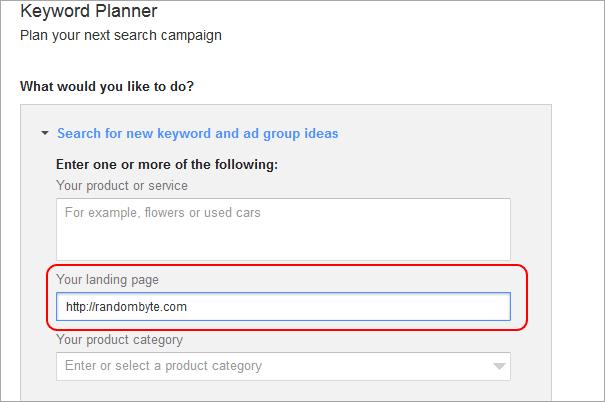 google keyword planner seo keywords
