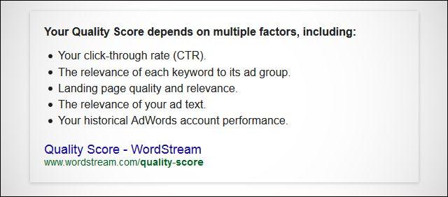 adwords quality score improvements