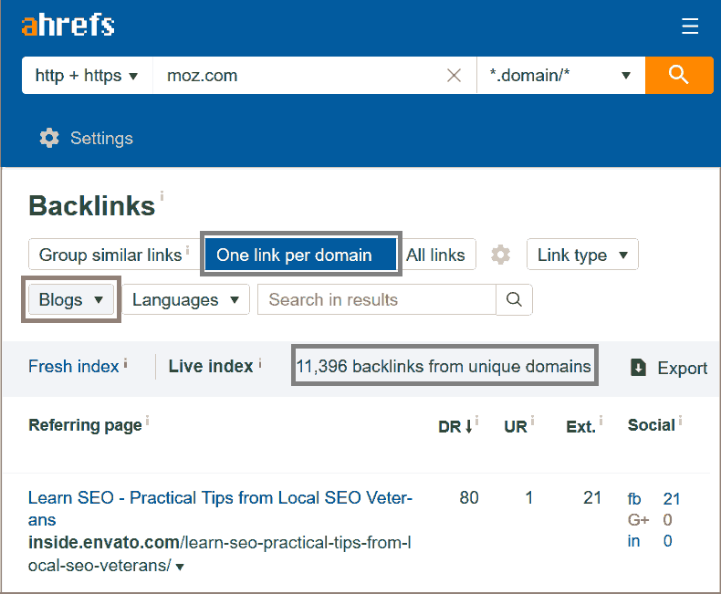 competitor backlinks research