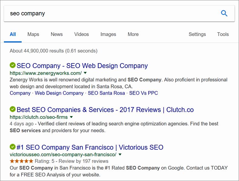 seo company search results